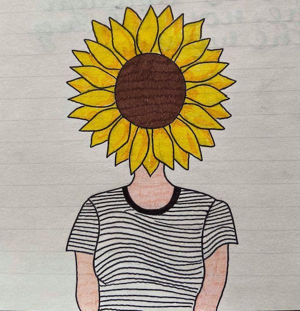 sungazing-flower-head-kayla-gignac-artist